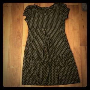 Vintage like black polka dot dress with pockets